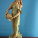 Antique French? Porcelain  Pre-Raphaelite  Style,Figure of A Lady  ( Signed )